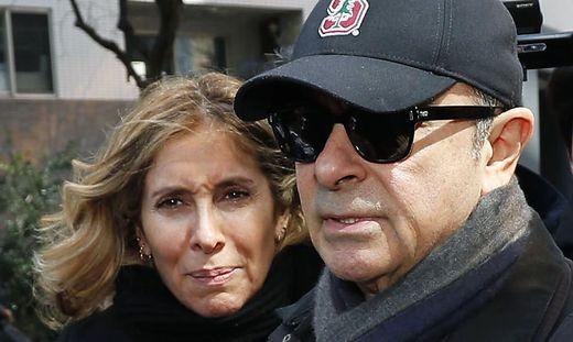 Ex-Nissan-Chef Carlos Ghosn und seine Frau Carole (März 2019)