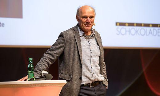 Josef Zotter erzählte aus der Geschichte seines Unternehmens