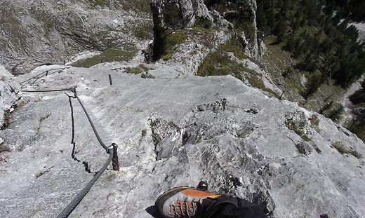 Eisenerzer Klettersteig : Leichtsinn: klettersteig war gesperrt: hubschrauber musste männer