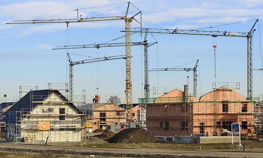 Hausbau im Neubaugebiet