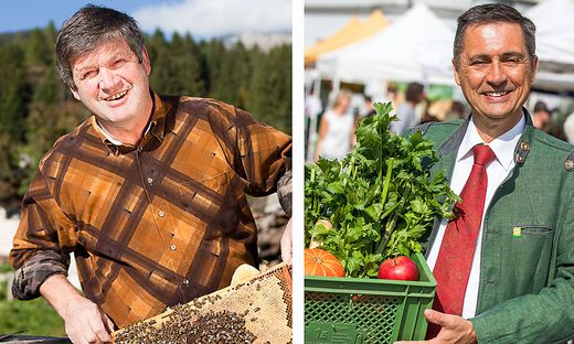 Erich Stampfer ist begeisterter Imker und Produzent von Wald- und Almrauschhonig; Hans Kreschischnig (rechts) schwört auf bewusste Bioernährung und eine jährliche Fastenwoche