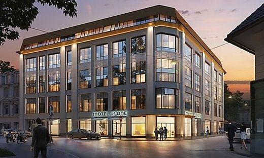 So wird das Motel One in Graz aussehen
