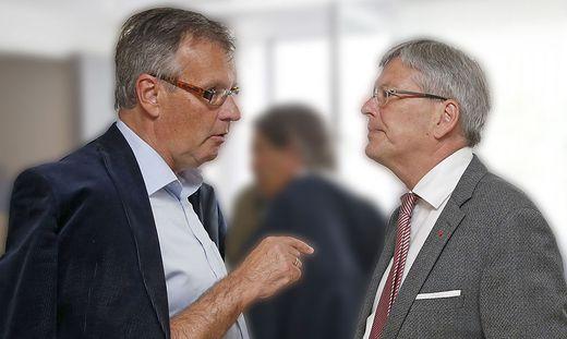 Parteifreunde und Verhandlungspartner: Gernot Nischelwitzer (links) und Peter Kaiser