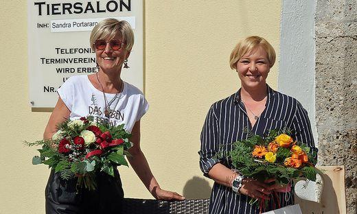Birgit Furtner mit ihrer Stieftochter Sandra Portararo