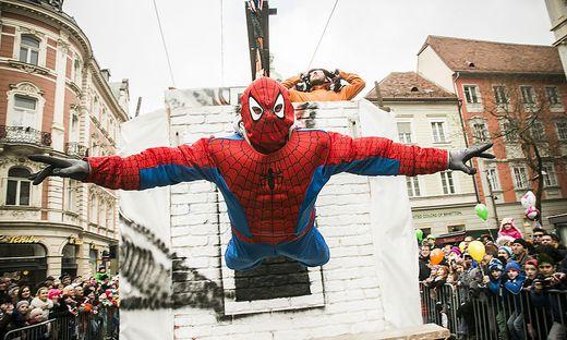 Spiderman gab der Kleinen Zeitung schon einmal die Ehre