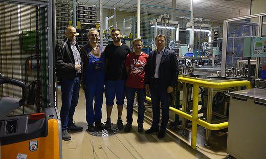 Betriebsrat Gerald Weber (links) will die Arbeitsplätze nicht kampflos aufgeben