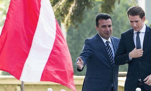 Merkel wirbt in Mazedonien für Beilegung des Namensstreits mit Griechenland