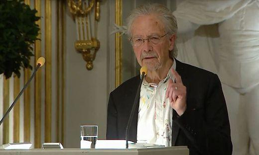 Peter Handke hält seine Nobelpreis-Rede