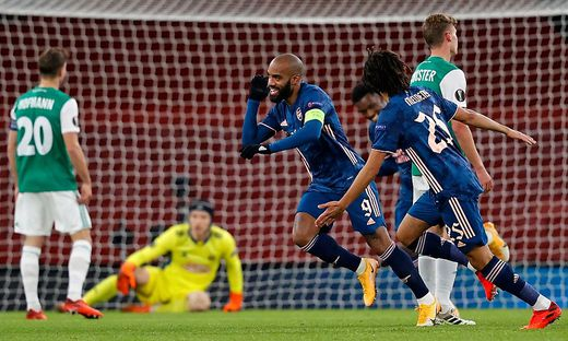 Arsenal hatte seinen Spaß mit Rapid