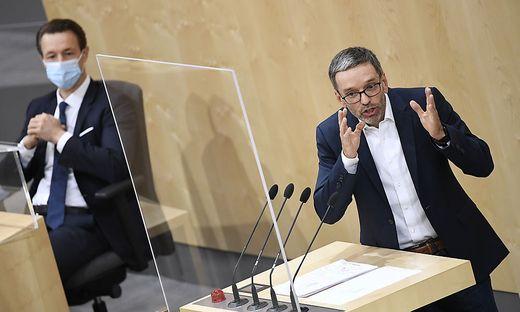 Finanzminister Gernot Blümel (ÖVP) und Klubobmann Herbert Kickl (FPÖ)