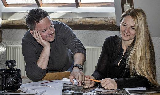 """Johannes Puch und Anja Bohnhof sind sich bei der Arbeit """"schnell einig""""."""
