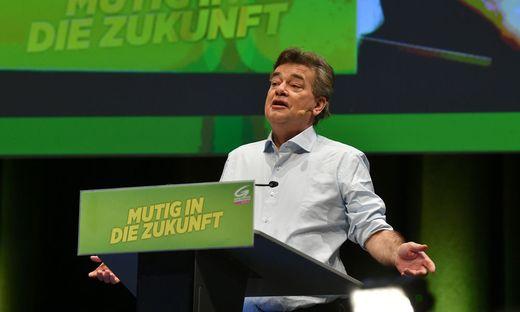 Werner Kogler am Bundeskongress der Grünen