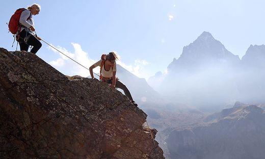 In anspruchsvolles Geläde sollten sich nur erfahrene Berggeher wagen.