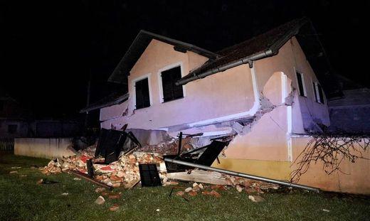 Das starke Erdbeben in Kroatien kurz vor dem Jahreswechsel machte viele vorübergehend obdachlos