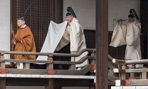 Kaiserwechsel in Japan: Akihito kündigt Göttern Abdankung an