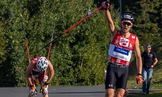 ÖSV-Athlet Mario Seidl holte sich nach Rang zwei am Samstag gestern den Sieg beim Sommer-GP-Finale in der Villacher Alpenarena