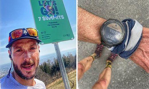 Tom Wagner: Der Trailrunner versichert glaubhaft, nur 6,33 Stunden für sieben Gipfel gebraucht zu haben