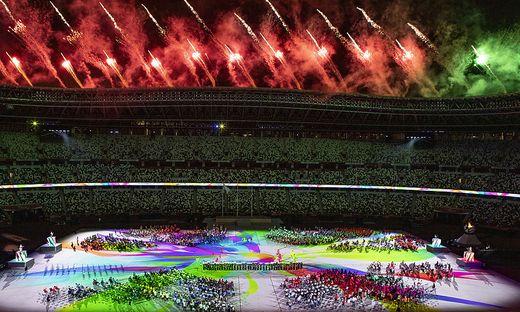 Schlussfeier bei den Paralympics