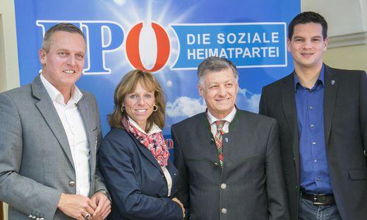 Schiffer mit Kunasek, Kurzmann und Amesbauer.