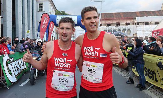 Die zwei schnellsten Läufer: Markus Hartinger (links) und Mario Bauernfeind