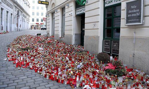 Vier Personen wurden beim Terroranschlag in der Wiener Innenstadt getötet, 23 wurden verletzt.
