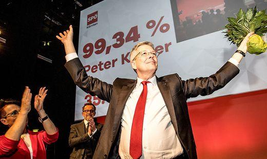 455 Ja-Stimmen gab es für Peter Kaiser beim SPÖ-Parteitag in Villach