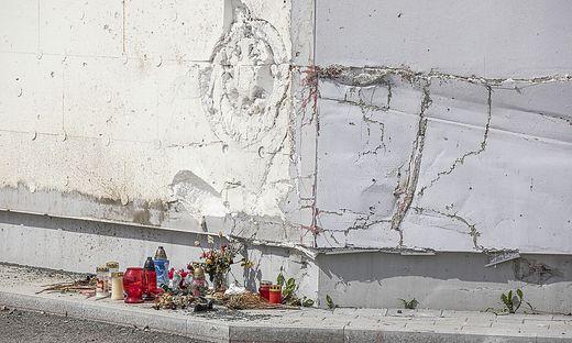 Zeichen der Trauer und Fassungslosigkeit nach dem Unfall