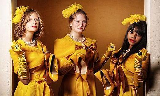Auch Sandra Liaunig, Lena Maier und Chiara Herzig zeigen ihr schauspielerisches Talent.