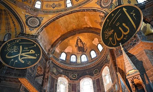 Treffen zweier Religionen: Blick in die Apsis der Hagia Sophia