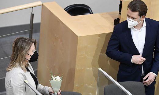Sebastian Kurz und Frauenministerin Susanne Raab: Kurz nützte die Debatte zu einem Seitenhieb auf die radikalen Demonstranten
