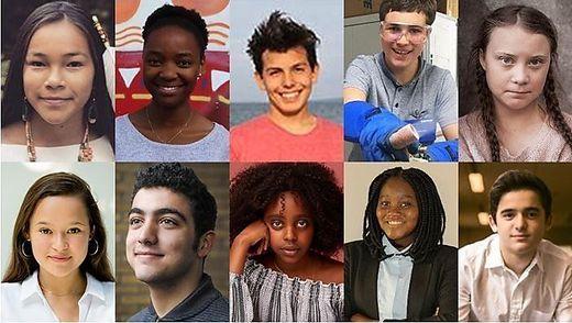 """Die zehn """"Teenage Changemakers"""" in Davos"""
