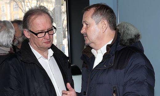 General Manager Michael Fuchs und Sportdirektor Karl Sommemr