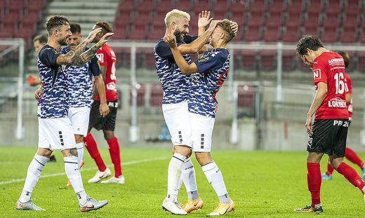 Die Austria-Spieler jubelten, für die Kicker von Stadl-Paura war das Match zum Vergessen - aus mehreren Gründen