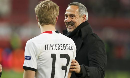 Martin Hinteregger, Adi Hütter