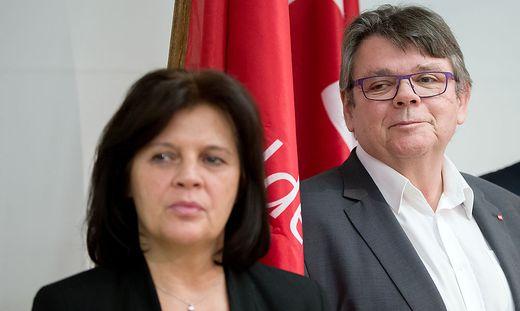 AK-Präsidentin Renate Anderl und ÖGB-Präsident Wolfgang Katzian präsentierten heute ihre Wünsche als Arbeitnehmervertreter für die Steuerreform