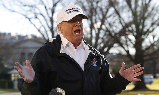 Kräfteringen mit den Demokraten:Trump reist wegen Mauerstreit nicht nach Davos