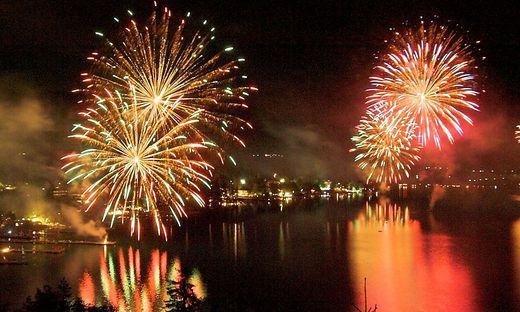 Feuerwerk am Klopeinersee