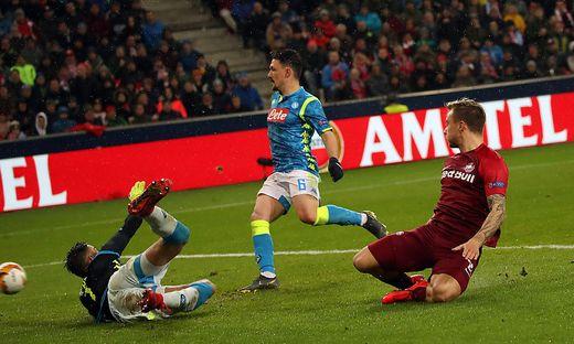 FUSSBALL UEFA EUROPA- LEAGUE-ACHTELFINALE-RUeCKSPIEL: RED BULL SALZBURG - SSC NAPOLI