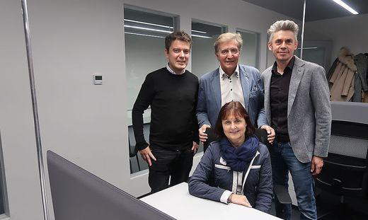 Jörg Kahlbacher, Franz Skazel und Oliver Königshofer eröffneten gemeinsam mit Ursula Haghofer die neuen Räumlichkeiten