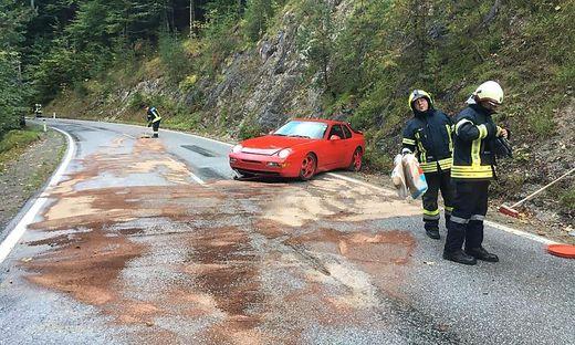 Der Porsche-Fahrer wurde nicht verletzt