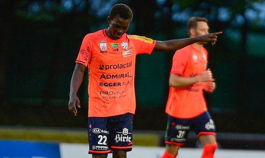 Amadou Dante machte eine starke Partie gegen den WAC