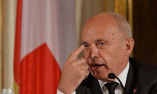 Der Schweizer Bundespräsident Ueli Maurer