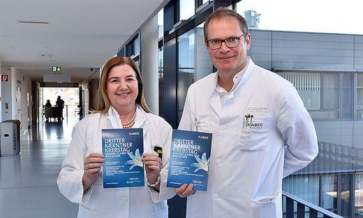 Primarius Wolfgang Eisterer und Oberärztin Ursula Pluschnig vom Klinikum Klagenfurt