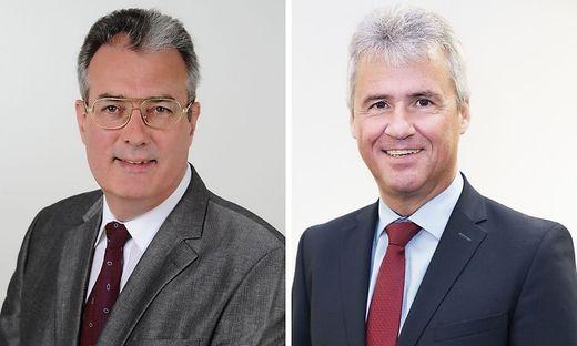 Helmut-Theobald Müller, Bezirkshauptmann von Deutschlandsberg und Manfred Walch, Bezirkshauptmann von Leibnitz