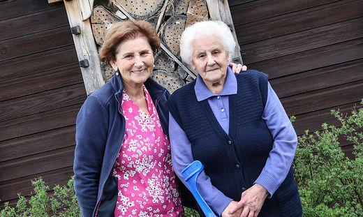 Elisabeth Leitgeb mit ihrer ältesten Tochter Traudi Lipusch