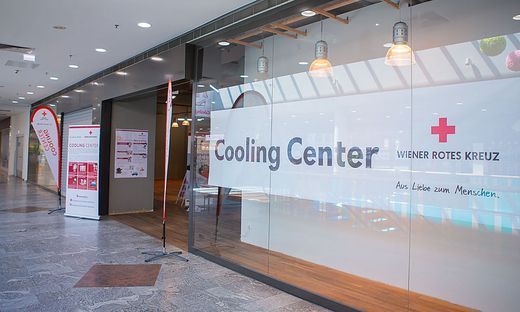 """""""Cooling Center"""" im Shopping Center Nord in Wien"""