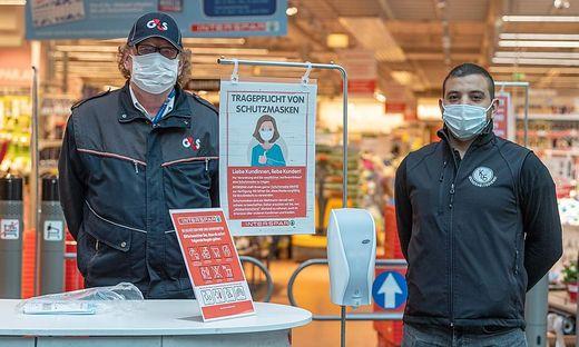 Seit heute ist das Tragen von Schutzmasken in Supermärkten