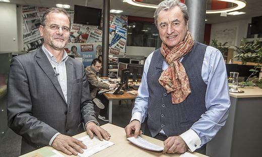 Raumplaner Richard Resch (links) zu Gast im Kleine-Zeitung-Livestream