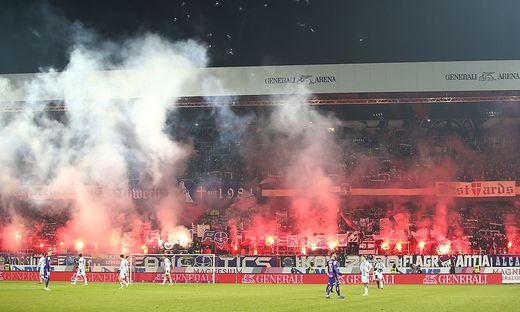 Fans beim Wiener Derby zwischen Austria und Rapid Wien