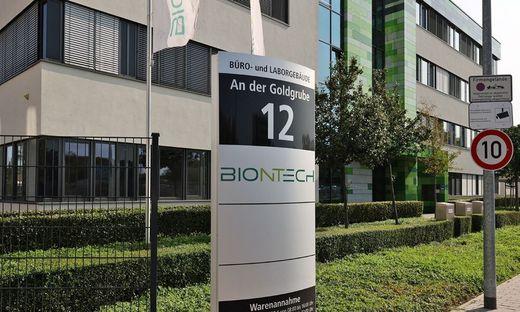 """Die Zentrale von BioNTech mit der klingenden Adresse """"An der Goldgrube"""""""